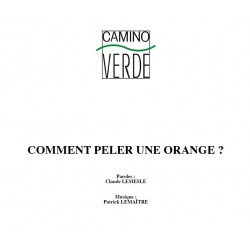 Comment peler une orange ? - Partition